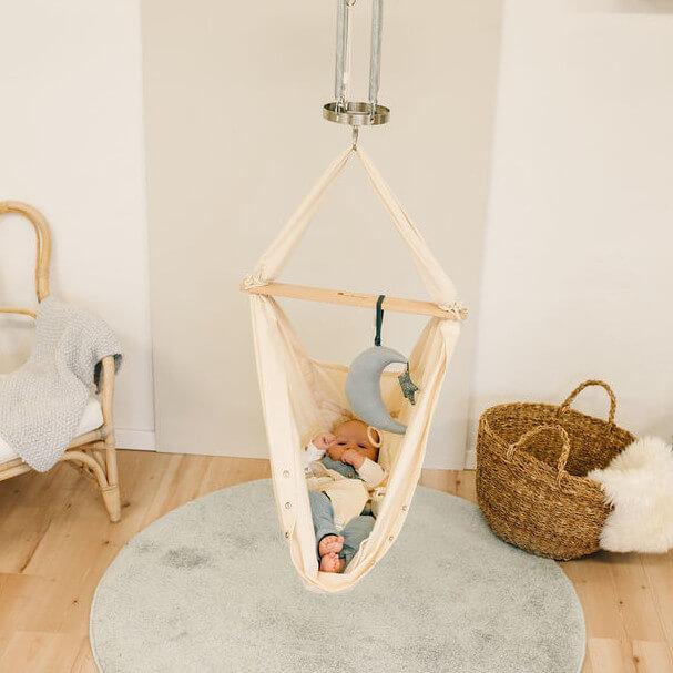 Federwiege für Babys in Beige
